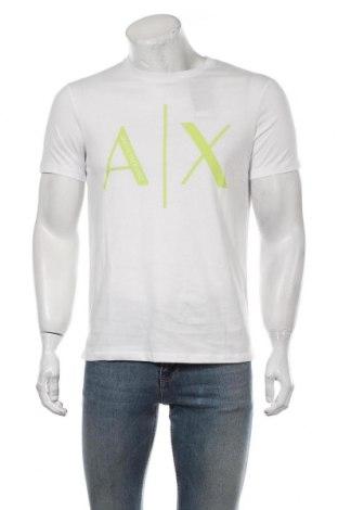 Мъжка тениска Armani Exchange, Размер M, Цвят Бял, Памук, Цена 74,25лв.