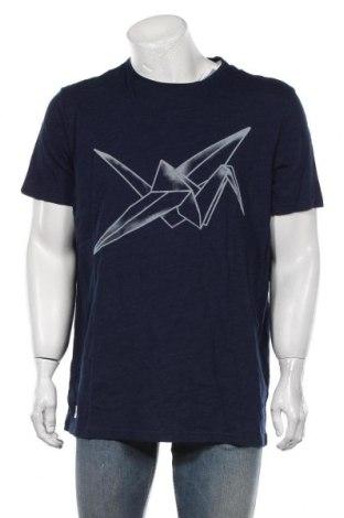 Мъжка тениска Celio, Размер XXL, Цвят Син, Памук, Цена 29,25лв.