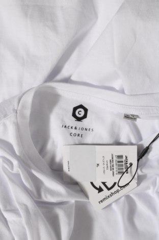 Мъжка тениска Core By Jack & Jones, Размер XL, Цвят Бял, Памук, Цена 26,95лв.