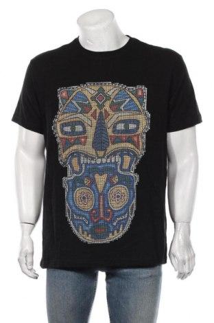 Мъжка тениска Desigual, Размер XL, Цвят Черен, Памук, Цена 58,50лв.