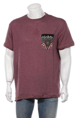 Мъжка тениска Desigual, Размер XXL, Цвят Червен, 57% памук, 436% полиестер, Цена 59,25лв.