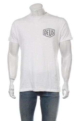 Мъжка тениска Deus Ex Machina, Размер M, Цвят Бял, Памук, Цена 37,38лв.