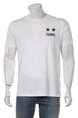 Мъжка тениска Eleven Paris, Размер L, Цвят Бял, Памук, Цена 53,40лв.