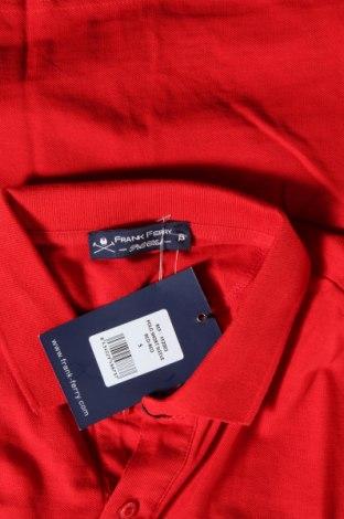 Мъжка тениска Frank Ferry, Размер S, Цвят Червен, Памук, Цена 15,60лв.