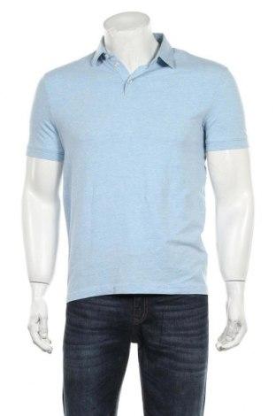Мъжка тениска H&M, Размер S, Цвят Син, 75% памук, 20% полиестер, 5% еластан, Цена 17,25лв.