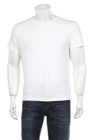 Мъжка тениска H&M, Размер L, Цвят Бял, 95% памук, 5% еластан, Цена 14,70лв.