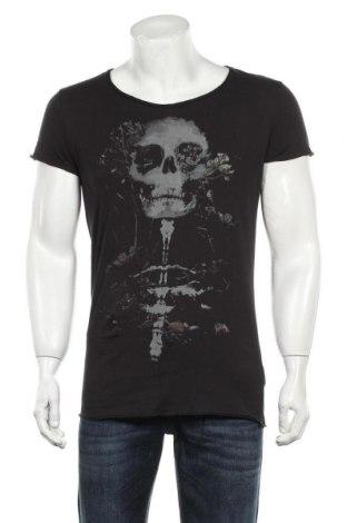 Мъжка тениска H&M Divided, Размер S, Цвят Сив, 100% памук, Цена 17,25лв.