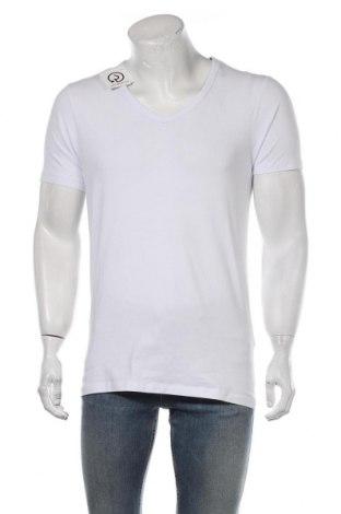 Мъжка тениска Jack & Jones, Размер L, Цвят Бял, 92% памук, 8% еластан, Цена 18,90лв.