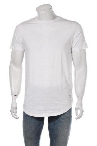 Мъжка тениска Jack & Jones, Размер M, Цвят Бял, Памук, Цена 16,38лв.
