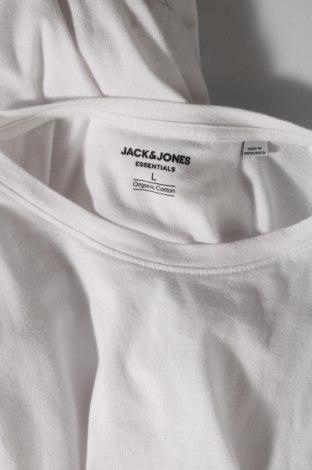 Мъжка тениска Jack & Jones, Размер L, Цвят Бял, Памук, Цена 16,38лв.