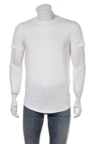 Мъжка тениска Jack & Jones, Размер S, Цвят Бял, Памук, Цена 16,38лв.