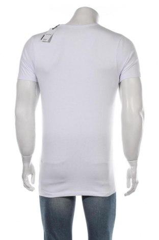 Мъжка тениска Jack & Jones, Размер M, Цвят Бял, 92% памук, 8% еластан, Цена 15,96лв.