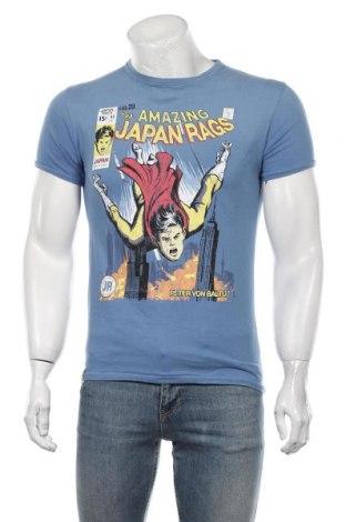 Męski T-shirt Japan Rags by Le Temps des Cerises, Rozmiar S, Kolor Niebieski, Bawełna, Cena 129,38zł
