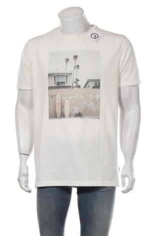 Мъжка тениска Kronstadt, Размер XL, Цвят Екрю, Памук, Цена 24,00лв.