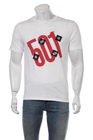 Мъжка тениска Levi's, Размер S, Цвят Бял, Памук, Цена 28,32лв.