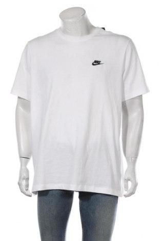 Tricou de bărbați Nike, Mărime XL, Culoare Alb, Bumbac, Preț 80,59 Lei