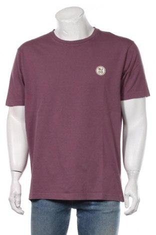 Мъжка тениска Nudie Jeans Co, Размер L, Цвят Лилав, Памук, Цена 59,25лв.