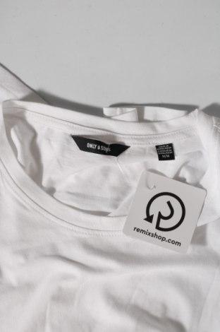Мъжка тениска Only & Sons, Размер M, Цвят Бял, 100% памук, Цена 14,30лв.