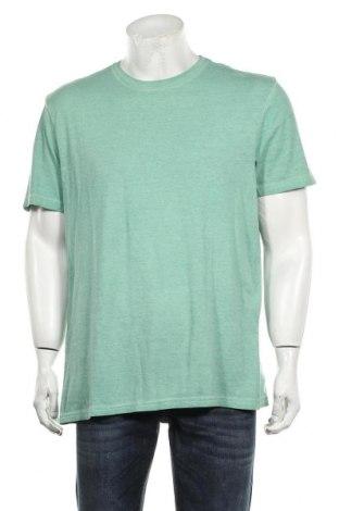 Мъжка тениска Oviesse, Размер XXL, Цвят Зелен, Памук, Цена 22,04лв.