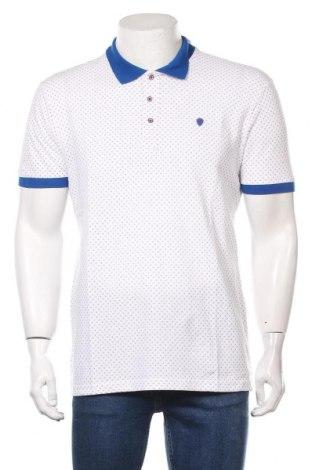Мъжка тениска Paul Parker, Размер L, Цвят Бял, Памук, Цена 27,00лв.