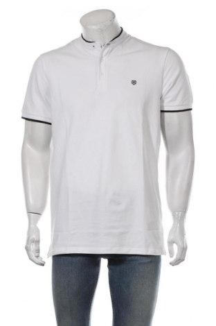 Мъжка тениска Premium By Jack & Jones, Размер L, Цвят Бял, 97% памук, 3% еластан, Цена 23,52лв.