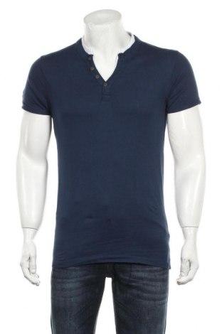 Мъжка тениска Premium By Jack & Jones, Размер M, Цвят Син, Памук, Цена 18,90лв.