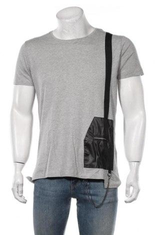 Мъжка тениска RNT23 Jeans, Размер S, Цвят Сив, Памук, Цена 35,40лв.