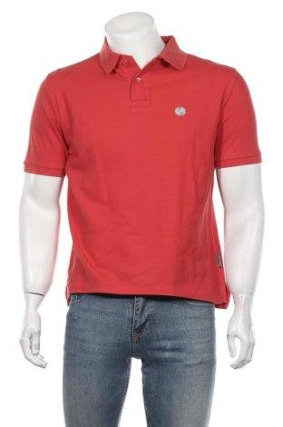 Мъжка тениска Rene Lezard, Размер M, Цвят Червен, Памук, Цена 23,21лв.