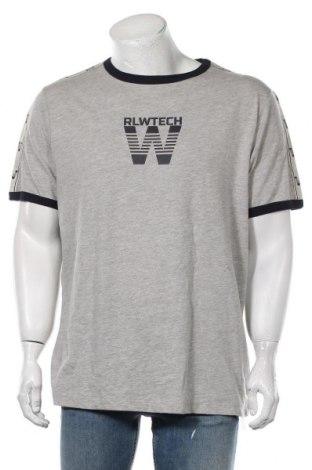 Мъжка тениска Rica Lewis, Размер XXL, Цвят Сив, 50% памук, 50% полиестер, Цена 21,00лв.