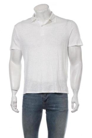 Мъжка тениска Sandro, Размер M, Цвят Бял, Лен, Цена 89,25лв.