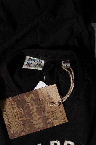 Мъжка тениска Schott, Размер S, Цвят Черен, Памук, Цена 45,82лв.