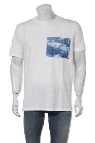 Мъжка тениска Selected Homme, Размер L, Цвят Бял, Памук, Цена 31,50лв.