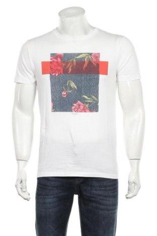 Мъжка тениска Selected Homme, Размер M, Цвят Бял, Памук, Цена 16,50лв.
