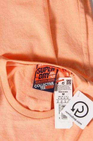 Мъжка тениска Superdry, Размер M, Цвят Оранжев, Памук, Цена 37,95лв.