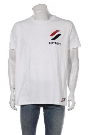 Мъжка тениска Superdry, Размер XXL, Цвят Бял, Памук, Цена 40,02лв.