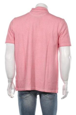 Мъжка тениска Timberland, Размер L, Цвят Розов, Памук, Цена 66,75лв.