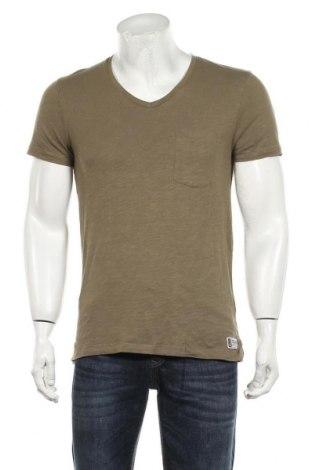 Мъжка тениска Tom Tailor, Размер M, Цвят Зелен, Памук, Цена 19,80лв.