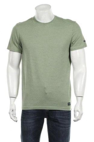 Мъжка тениска Tom Tailor, Размер M, Цвят Зелен, Памук, Цена 26,10лв.
