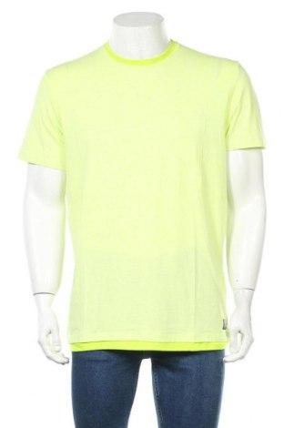 Мъжка тениска Tom Tailor, Размер L, Цвят Зелен, 70% памук, 25% полиестер, 5% еластан, Цена 16,38лв.