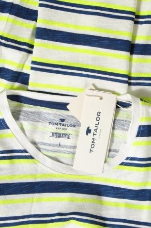 Мъжка тениска Tom Tailor, Размер L, Цвят Многоцветен, Памук, Цена 21,60лв.