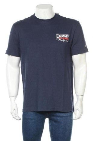 Мъжка тениска Tommy Hilfiger, Размер M, Цвят Син, Памук, Цена 66,75лв.