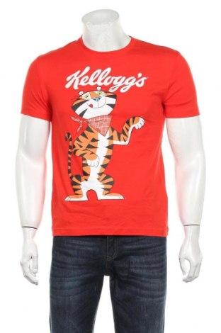 Мъжка тениска Undiz, Размер S, Цвят Червен, Памук, Цена 16,80лв.