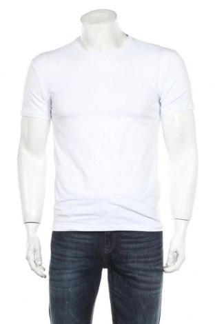 Мъжка тениска Zara, Размер S, Цвят Бял, 96% памук, 4% еластан, Цена 13,44лв.