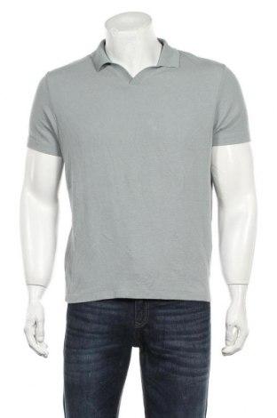 Мъжка тениска Zara, Размер M, Цвят Зелен, 86% вискоза, 14% полиестер, Цена 22,40лв.