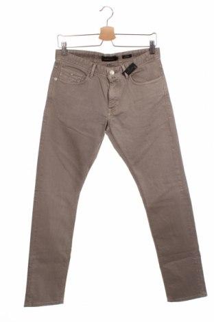 Мъжки дънки Massimo Dutti, Размер S, Цвят Бежов, 99% памук, 1% еластан, Цена 66,75лв.