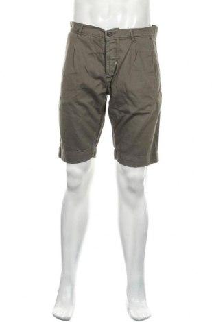 Мъжки къс панталон Antony Morato, Размер M, Цвят Зелен, 80% памук, 15% лиосел, 5% лен, Цена 46,20лв.