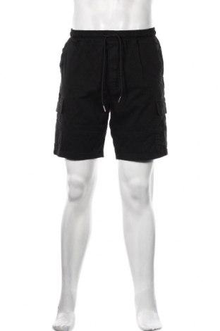 Мъжки къс панталон Boohoo, Размер M, Цвят Черен, 98% памук, 2% еластан, Цена 23,40лв.