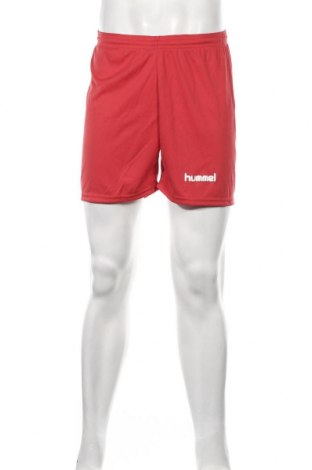 Мъжки къс панталон Hummel, Размер S, Цвят Червен, Полиестер, Цена 23,32лв.