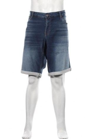 Мъжки къс панталон Jack & Jones, Размер 3XL, Цвят Син, 77% памук, 22% полиестер, 1% еластан, Цена 41,40лв.