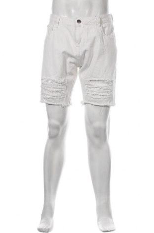 Мъжки къс панталон NIGHT ADDICT, Размер M, Цвят Бял, Памук, Цена 52,00лв.
